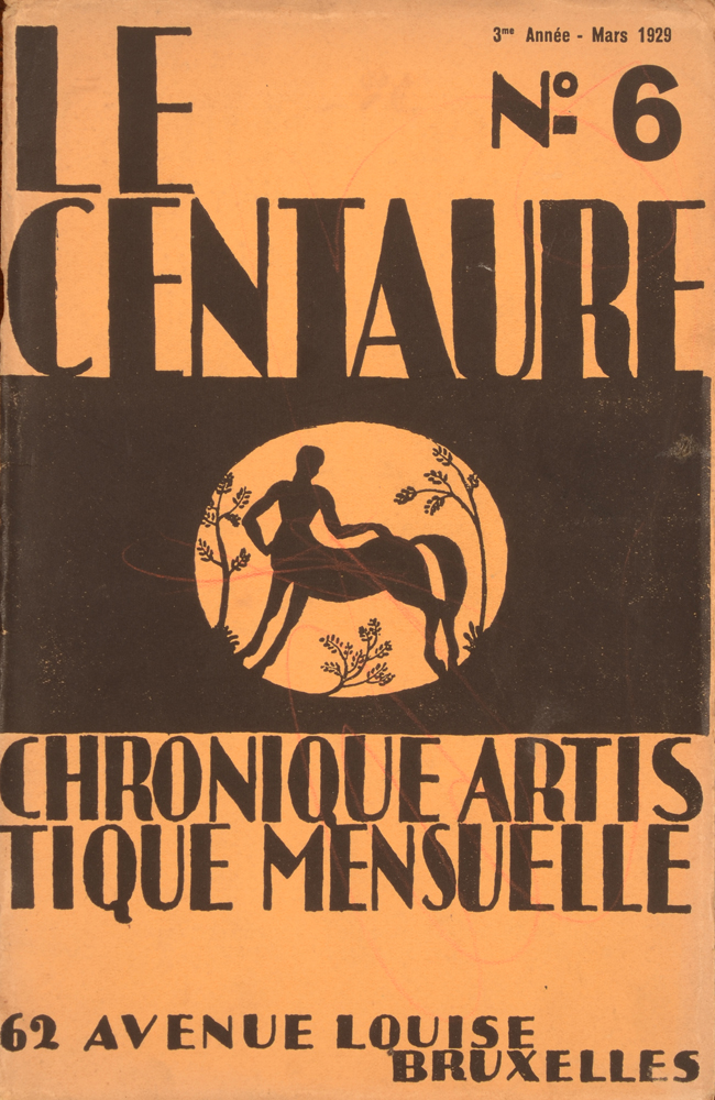 Le Centaure — March 1929, cover with red pencil doodles