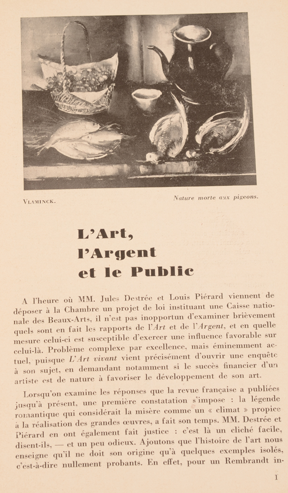 Le Centaure — Nothing has changed in the artworld... October 1927!