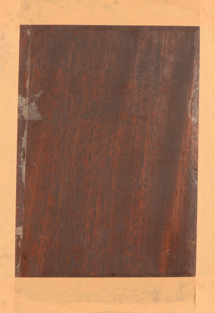 Charles Joseph Grips — Back of the mahogany panel