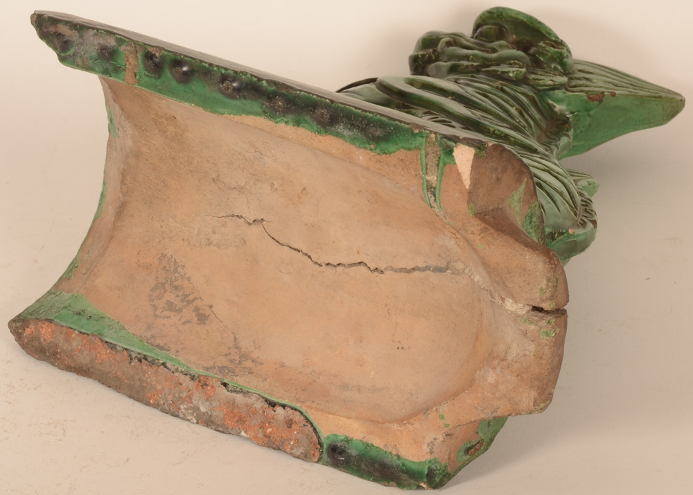 Chinese roof tile Fo lion — Underside of the base