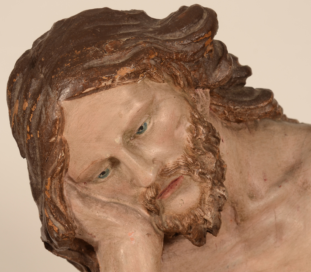 Christ on the cold stone — Detail of the head of Christ