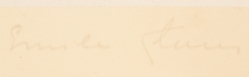 Emile Claus — Signature of the artist in pencil bottom right