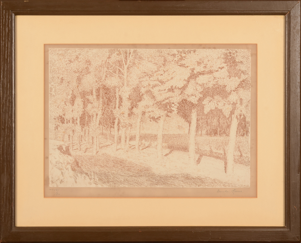 Emile Claus — The lithograph in its frame