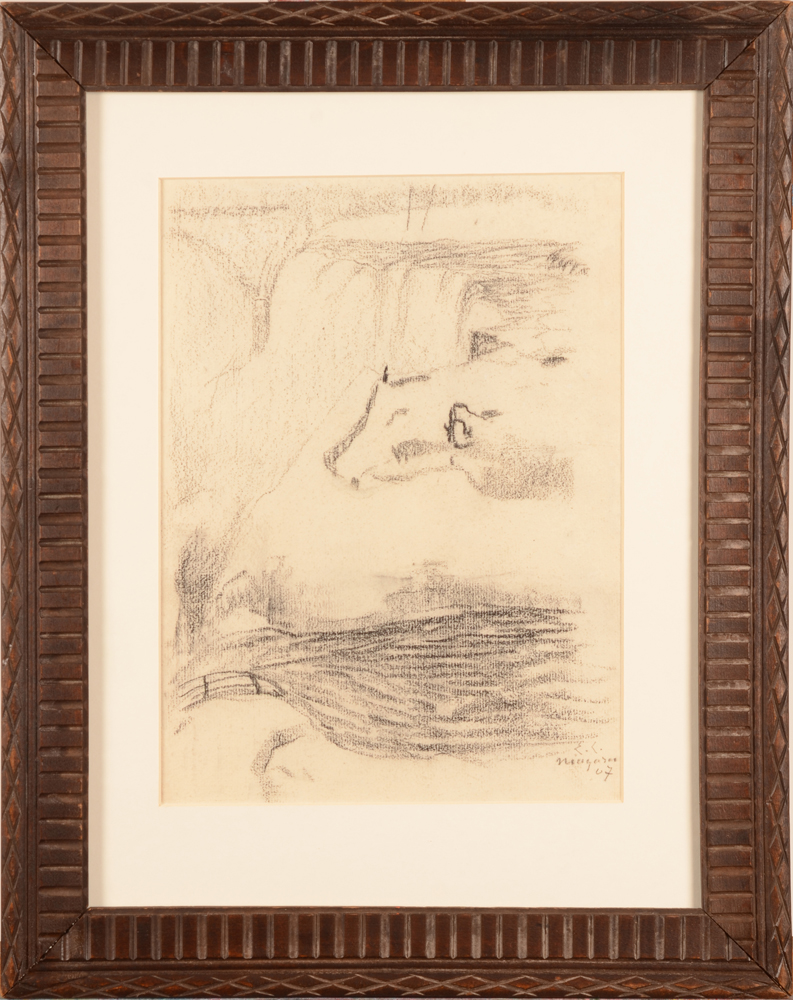 Emile Claus — The drawing in its oak frame