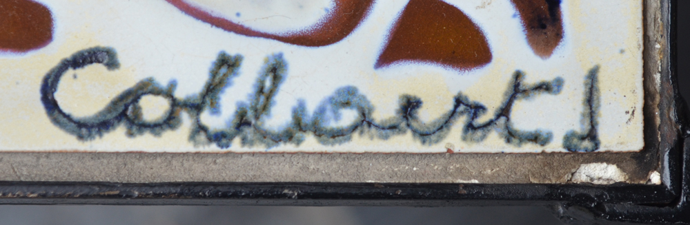 Jan Cobbaert  — Signature of the artist on one of the tiles