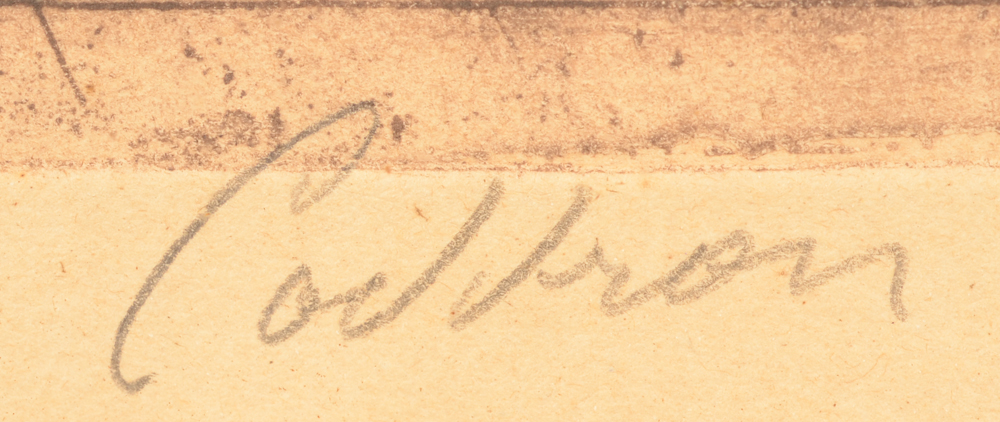 Oscar Coddron — Signature of the artist in pencil bottom left