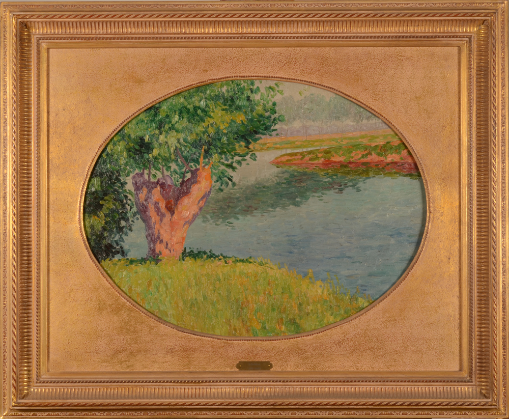 Oscar Coddron — The painting in its modern frame