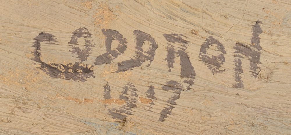 Oscar Coddron — Signature and date by the artist bottom right