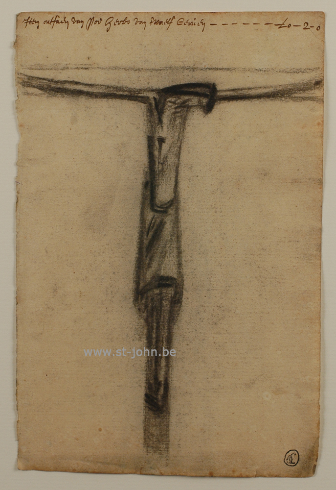 Oscar Colbrandt — <p> <strong>Oscar Colbrandt (1879-1959)</strong>, Christ with text, charcoal on archive paper, (<strong>SOLD</strong>)</p>
