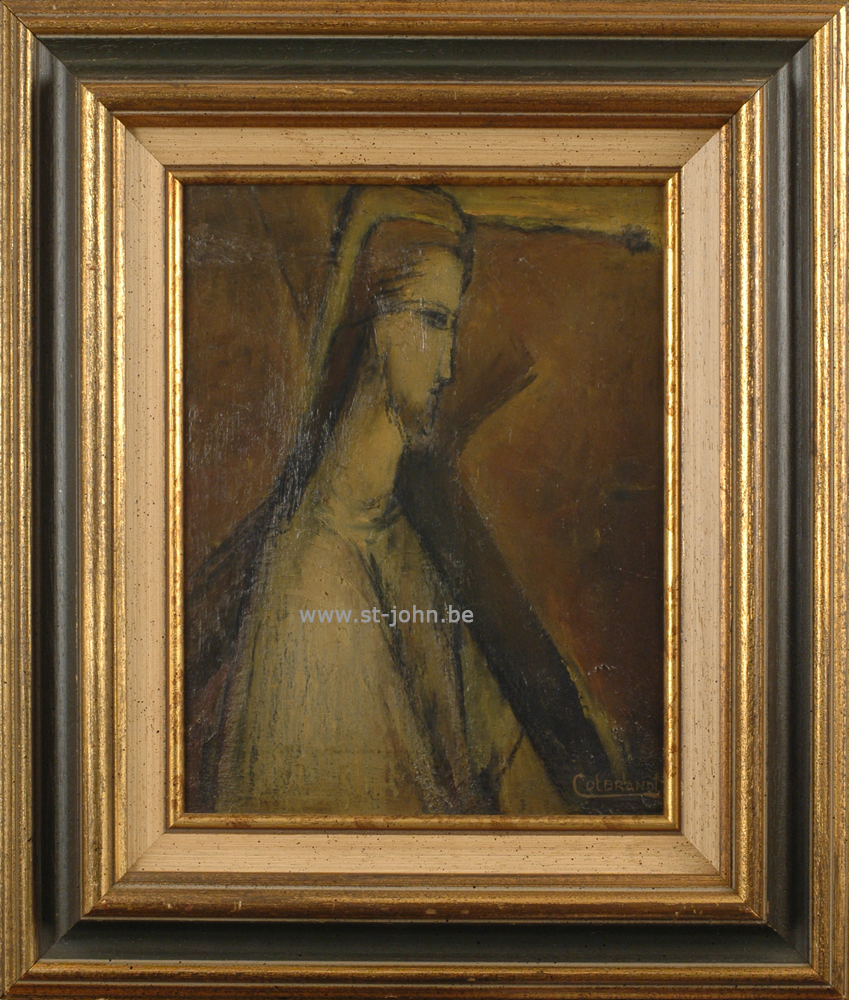 Oscar Colbrandt — <p> <strong>Oscar Colbrandt (1879-1959)</strong>, Christ carrying the cross, oil on panel, 32,5 x 25,5 cm, signed.</p>