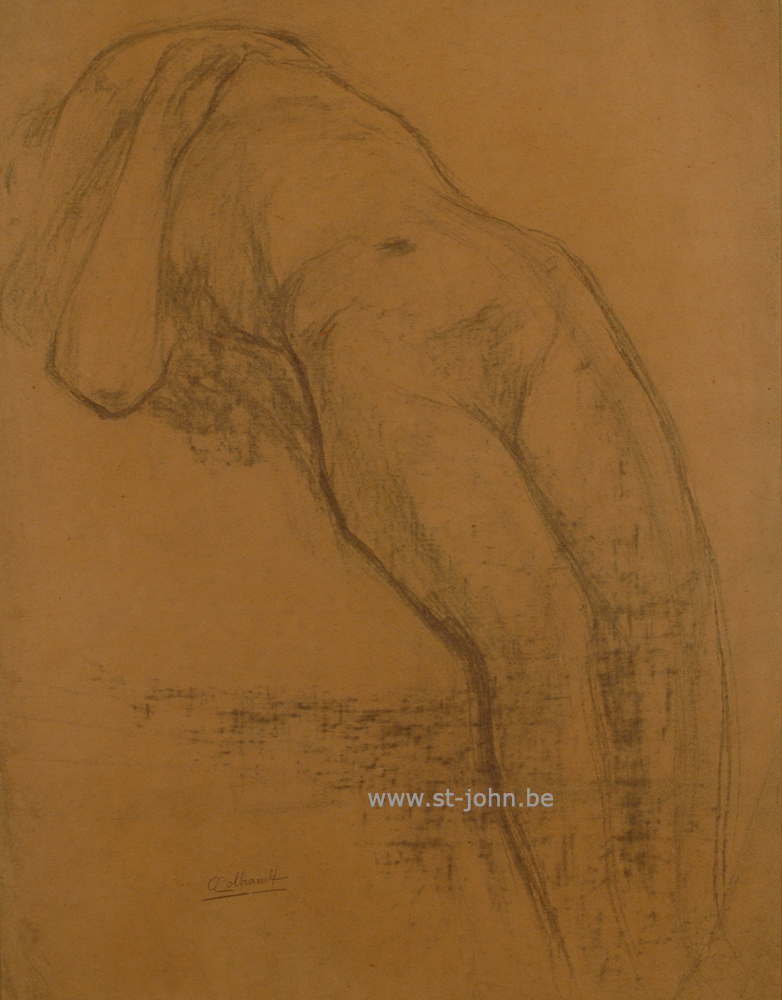 Oscar Colbrandt — <p> <strong>Oscar Colbrandt (1879-1959)</strong>, Lying nude, charcoal on paper, 55 x 42,5 cm, signed.</p>