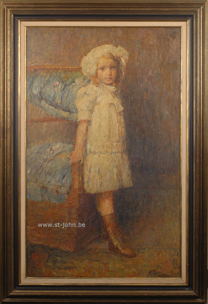 Oscar Colbrandt — <p> <strong>Oscar Colbrandt (1879-1959)</strong>, the portrait of Nono Dupuis, the daughter of painter Maurice Dupuis, oil on canvas, 125 x 78 cm, signed.</p>