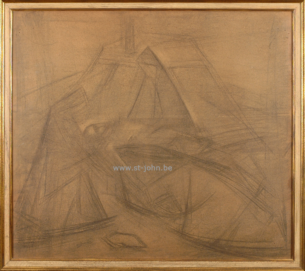 Oscar Colbrandt — <p> <strong>Oscar Colbrandt (1879-1959)</strong>: Pieta, a very important monumental drawing, charcoal on paper, 78 x 89,5 cm, signed bottom left.</p>