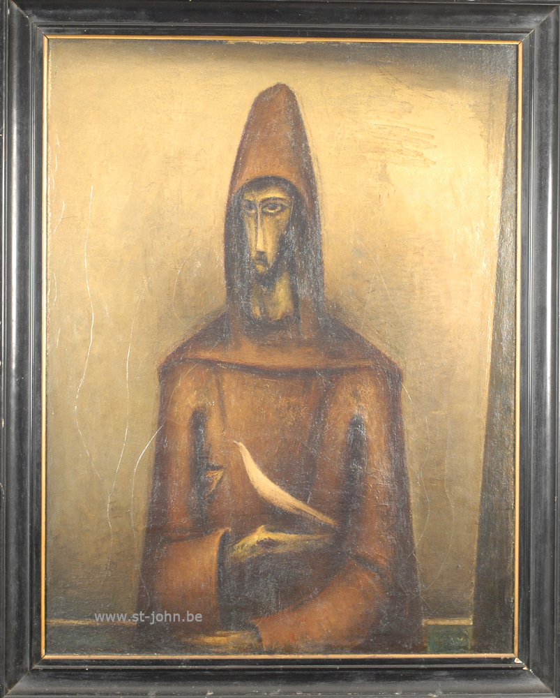 Oscar Colbrandt — <p> <strong>Oscar Colbrandt (1879-1959)</strong>, Portrait of St-Francis of Assisi, oil on canvas, 109 x 84 cm, signed.</p>