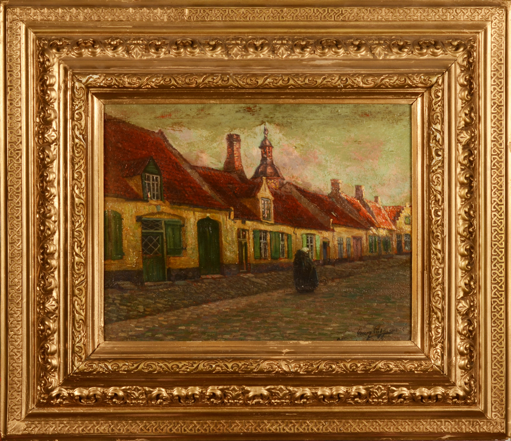 Omer Coppens — the painting in its frame which needs restauration