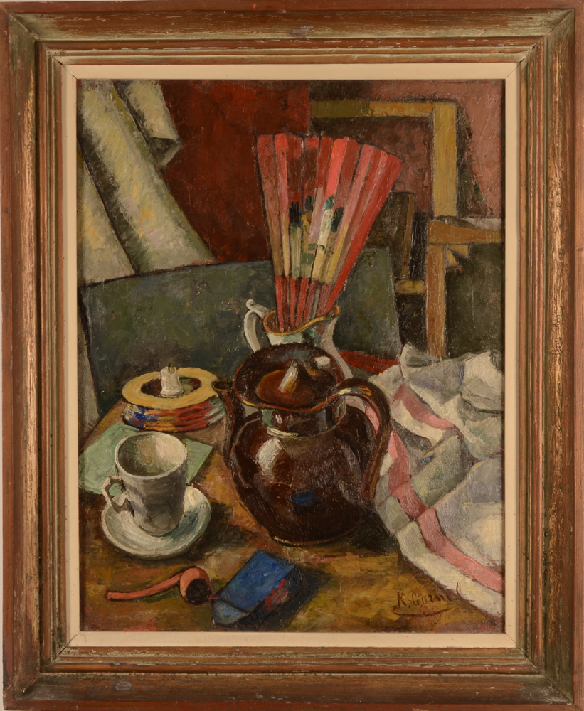 Karel Cornel — The painting in its matching frame