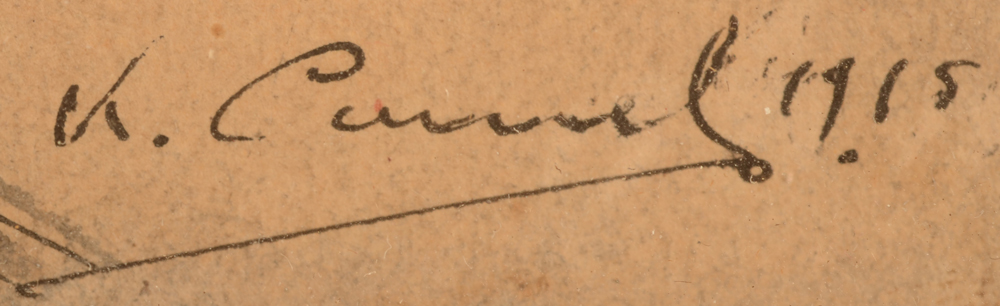 Karel Cornel — Signature of the artist and date, bottom right
