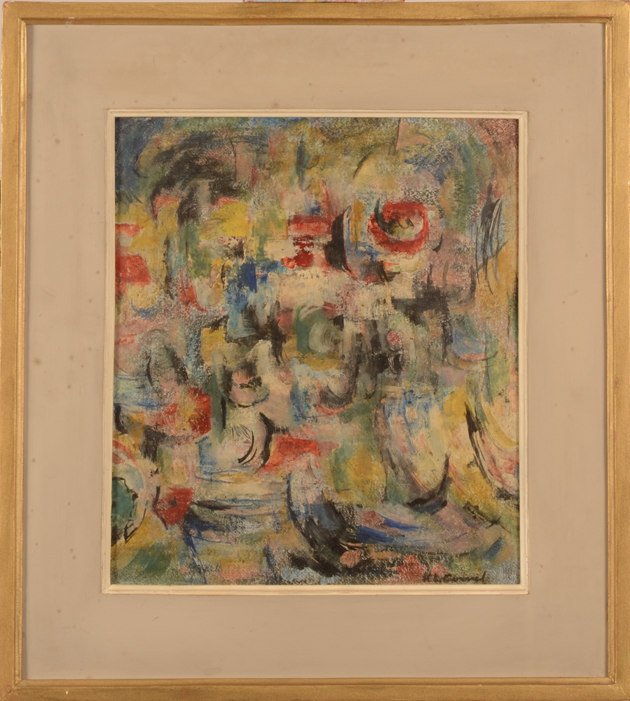 Karel Cornel Vertical Abstraction — With its frame