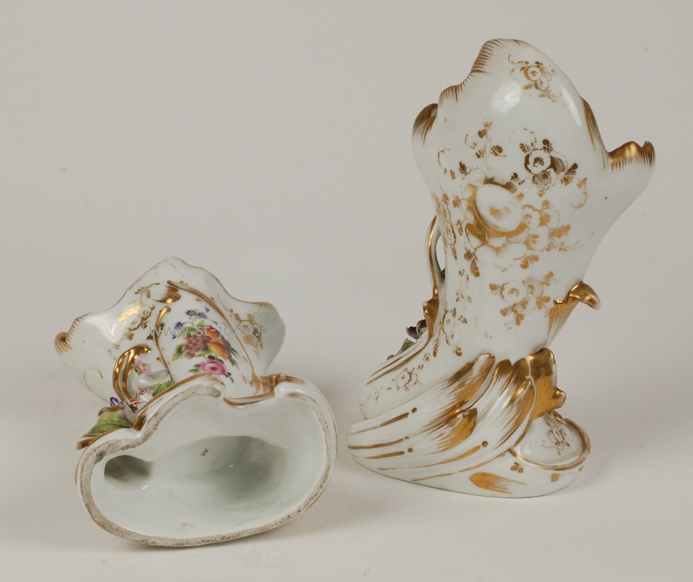 A pair of Louis-Philippe Cornucopia Vases.