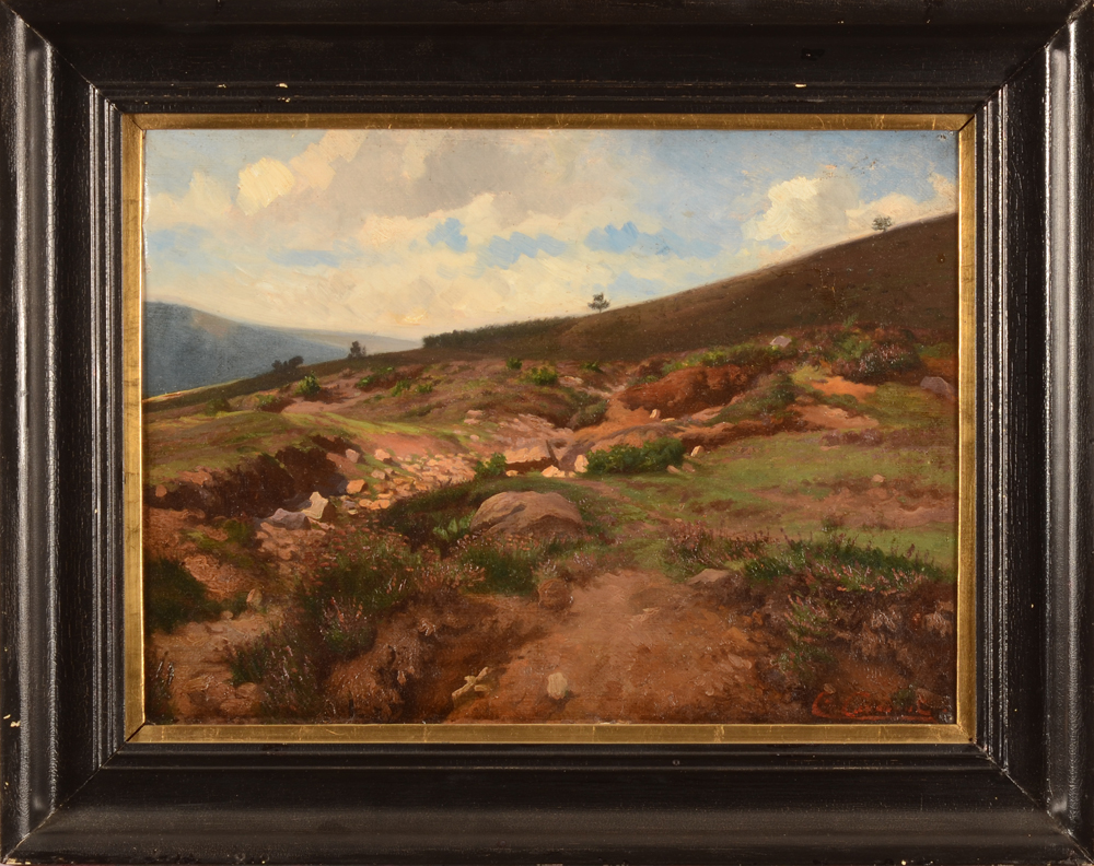 Charles Coumont Landscape Study — With frame