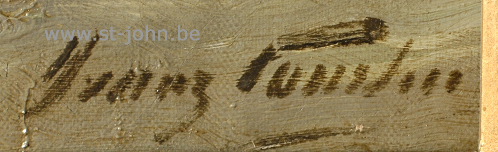 Franz Courtens: detail of the signature.