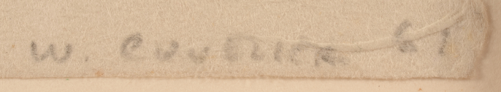 Werner Cuvelier — Signature of the artist and date, bottom right