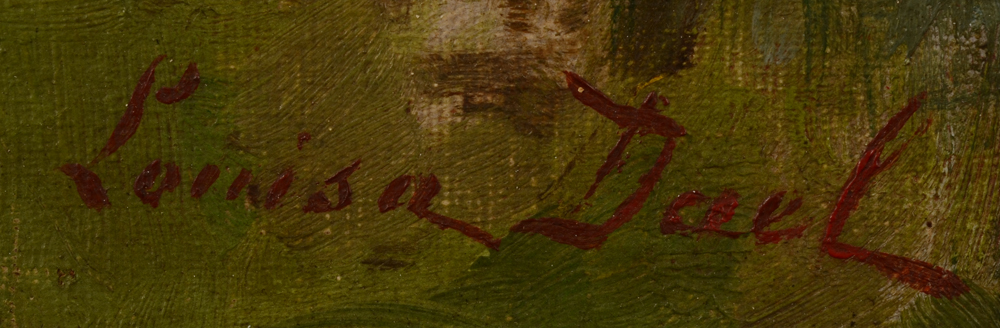 Louisa Dael — Signature of the artist, bottom left