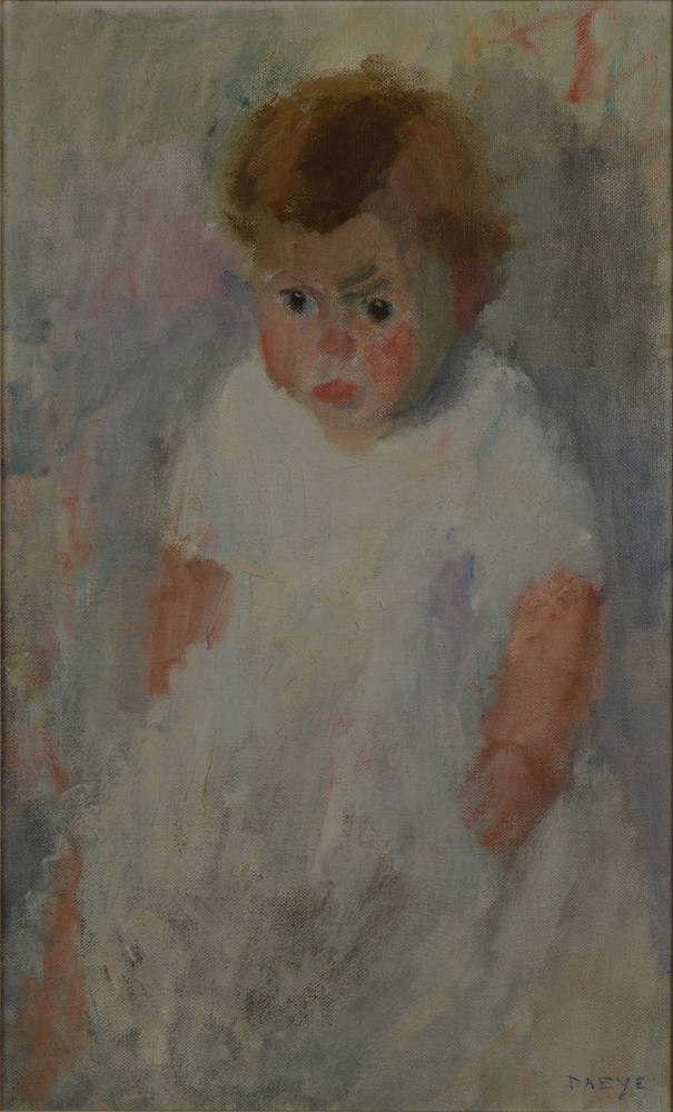 Hippolyte Daeye — Portrait of a Baby, 1918, oil on canvas.