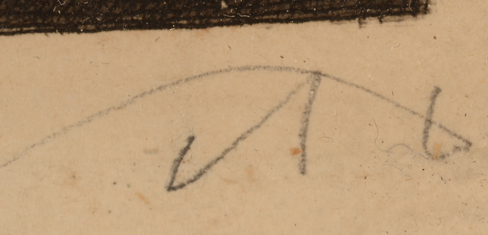 Auguste Danse — Mongram signature of the artist, bottom right