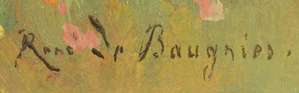 Rene De Baugnies — Signature of the artist, bottom right