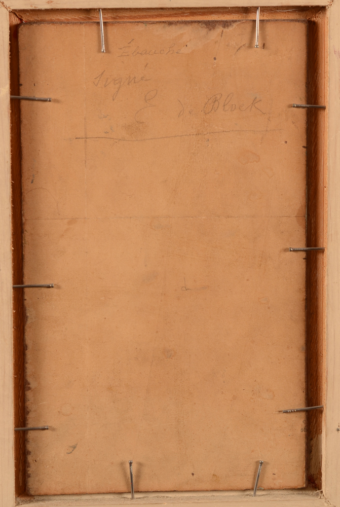 Eugène De Block — <p>Back&nbsp;of the cardboard back</p>