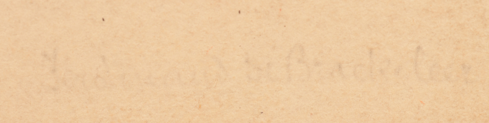 Ferdinand De Braekeleer — Indistinct signature in pencil, possibly by another hand, bottom right