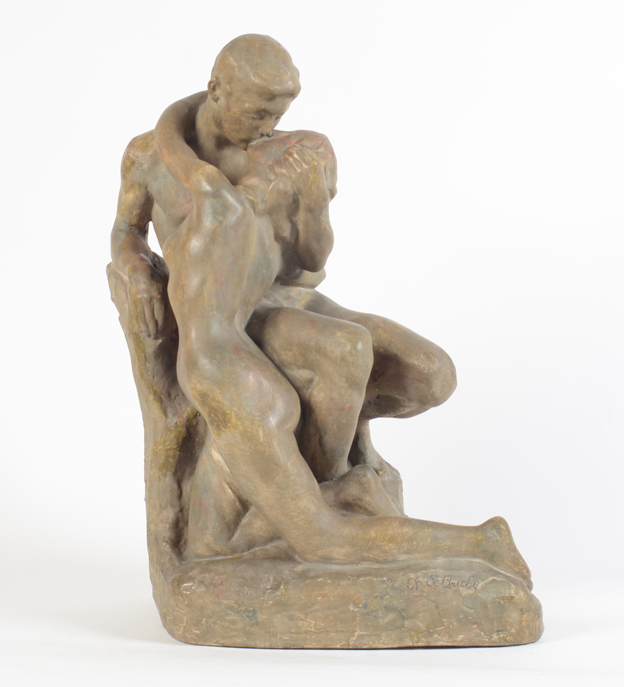 Charles De Brichy — Jeugd or Yought, an original plaster cast, ca. 1910.