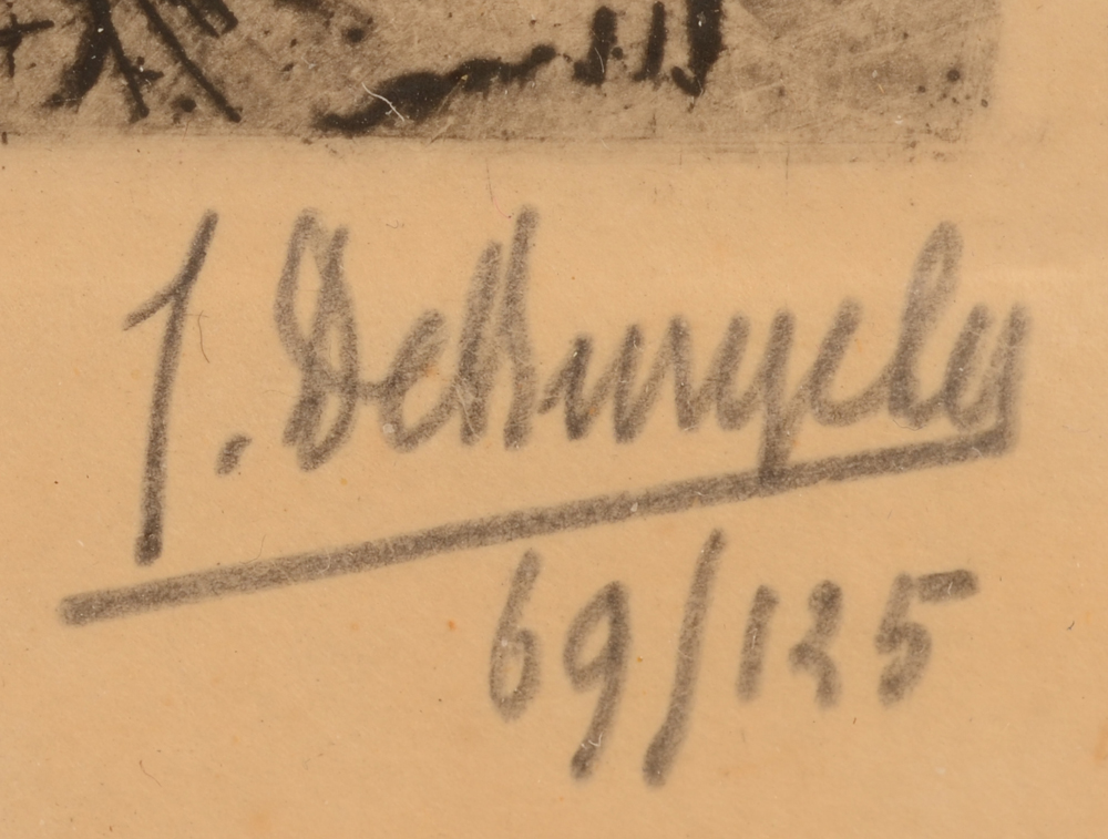 Jules De Bruycker — Signature of the artist in pencil and justification 69/125, bottom right