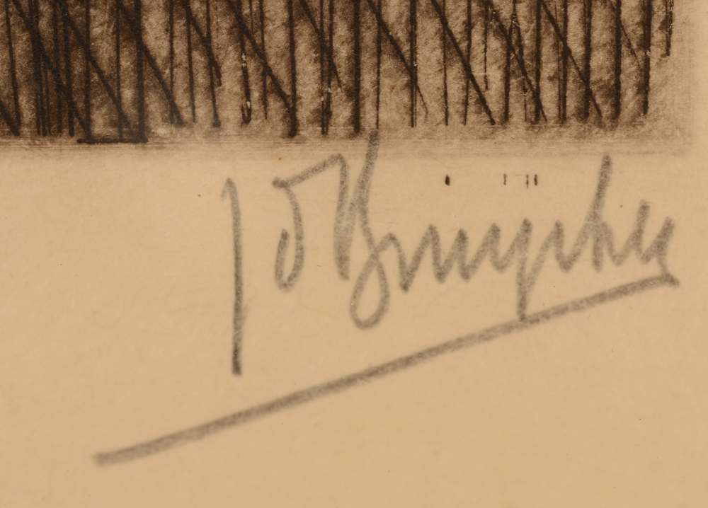 Jules De Bruycker — Signature of the artist in pencil, bottom right