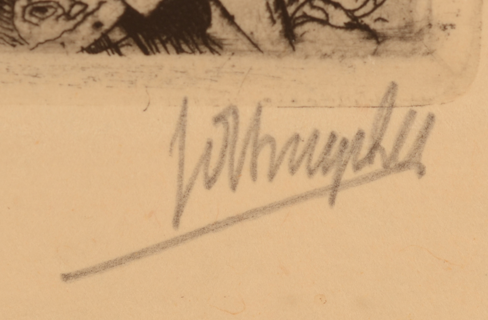 Jules De Bruycker — Signature in pencil of the artist bottom right