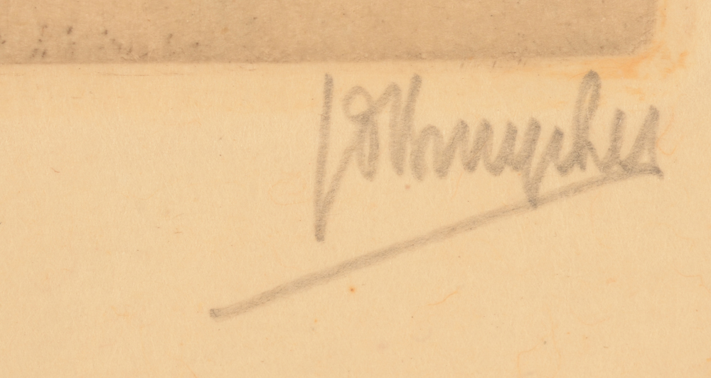 Jules De Bruycker — Signature of the artist in pencil bottom right