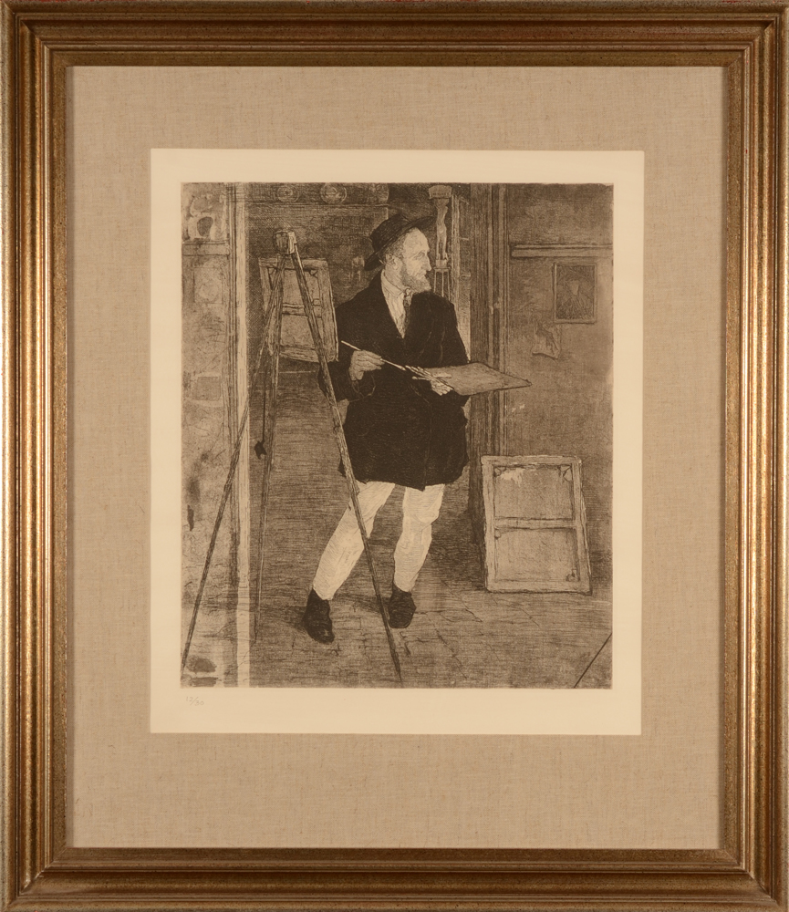 Jules De Bruycker — The etching in its modern frame