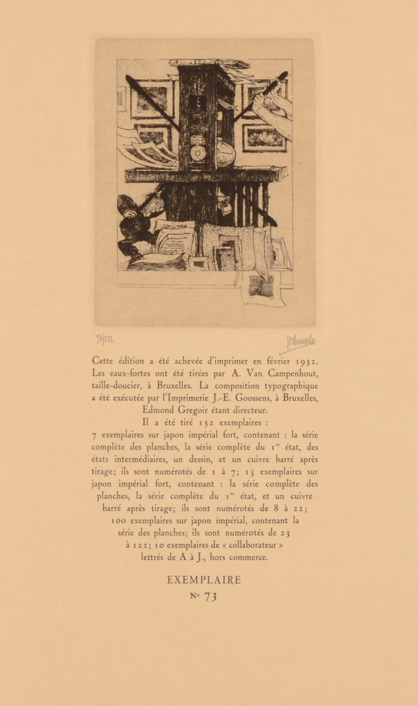 Jules De Bruycker — Colophon of the portofolio, with justification