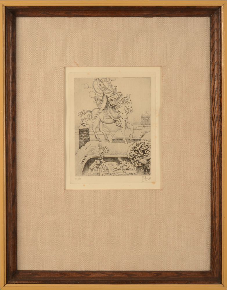 Jules De Bruycker — the etching in its frame