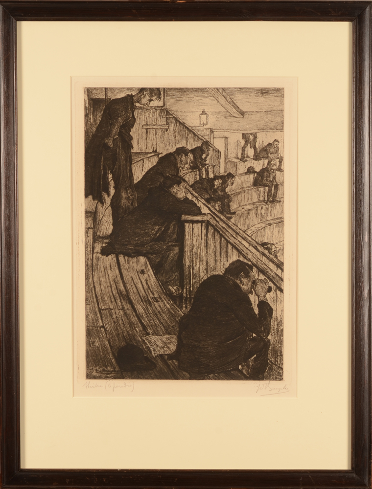 Jules De Bruycker — The etching with its frame