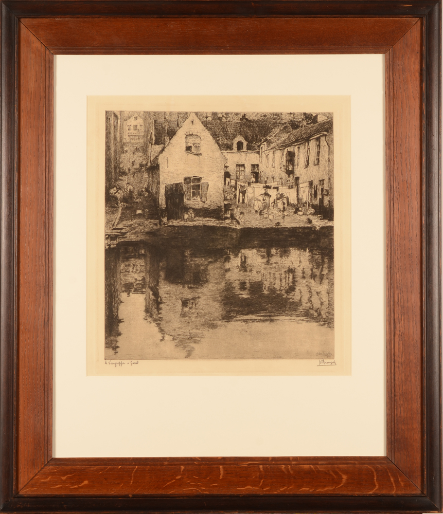 Jules De Bruycker — The etching in its original frame