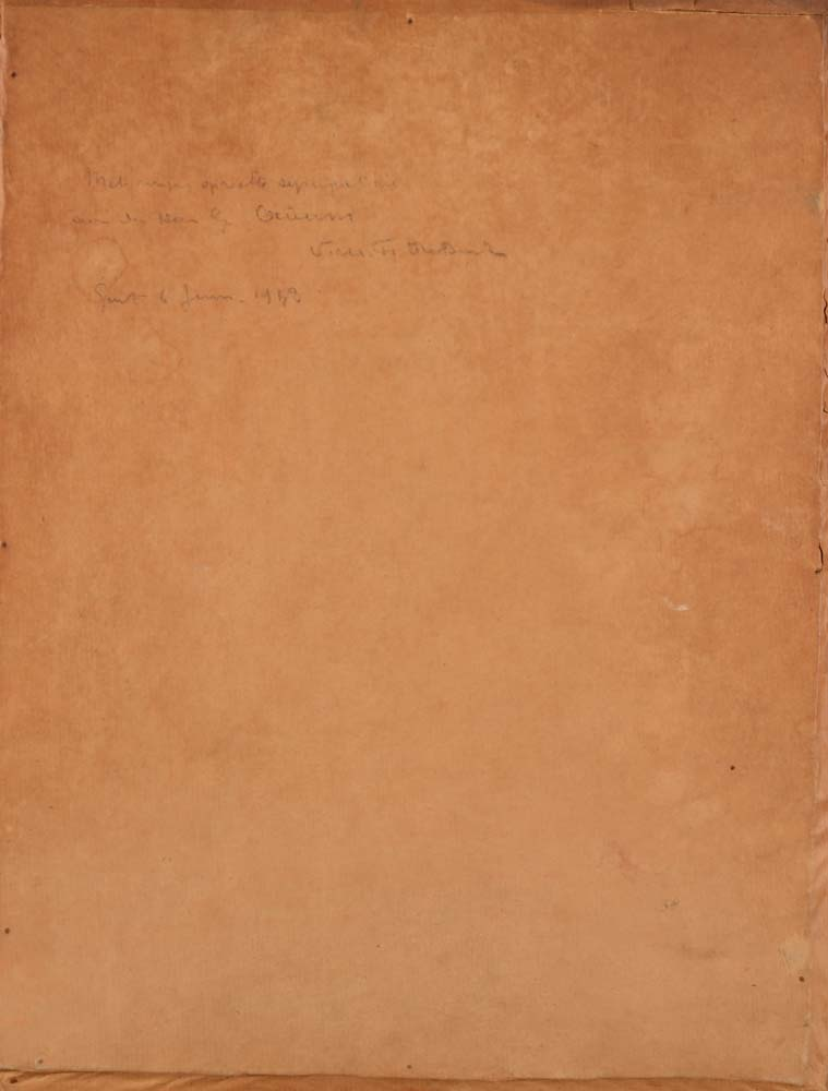 Victor De Budt — <p>Back of the drawing, with dedication&nbsp;</p>