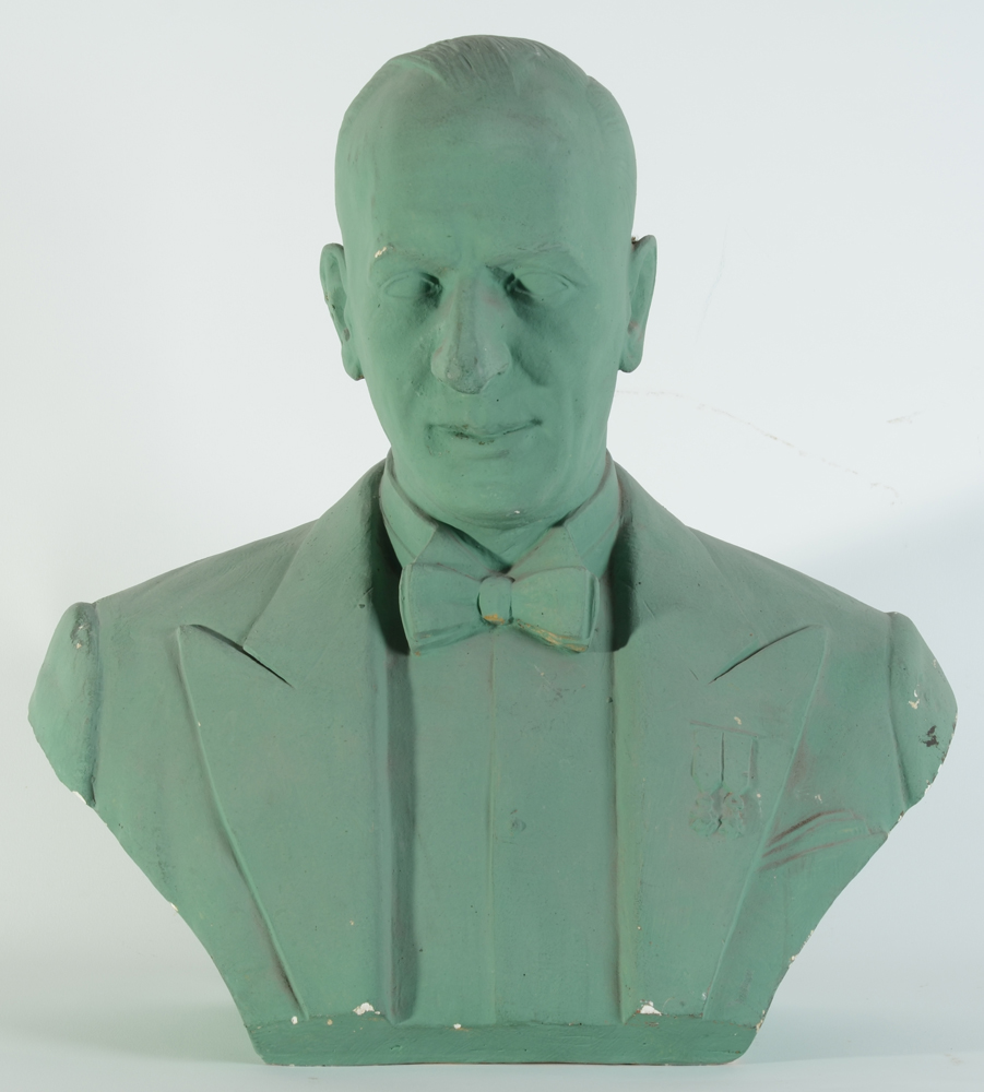 Oscar De Clerck — Portrait bust of a gentleman in evening wear.