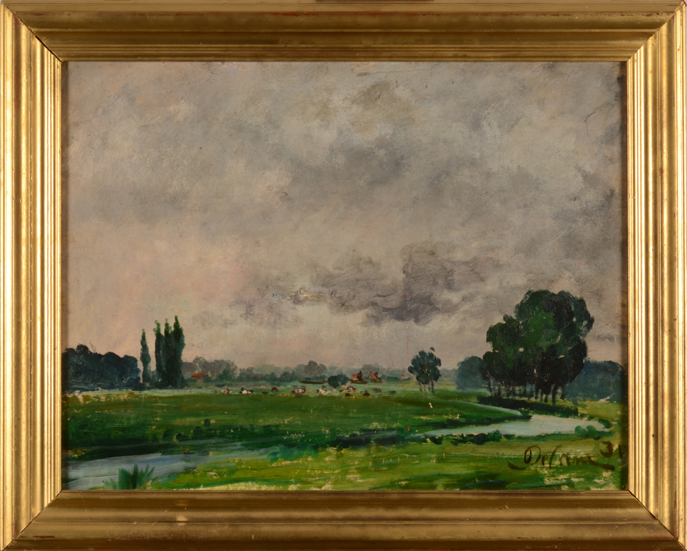 Jozef De Coene — the painting in its frame