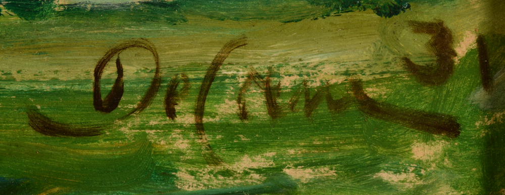 Jozef De Coene — Signature by the artist and date bottom right