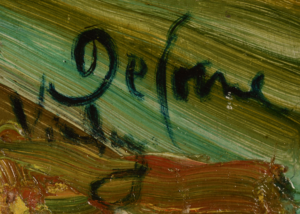Jozef De Coene — signature of the artist and localisation, bottom right