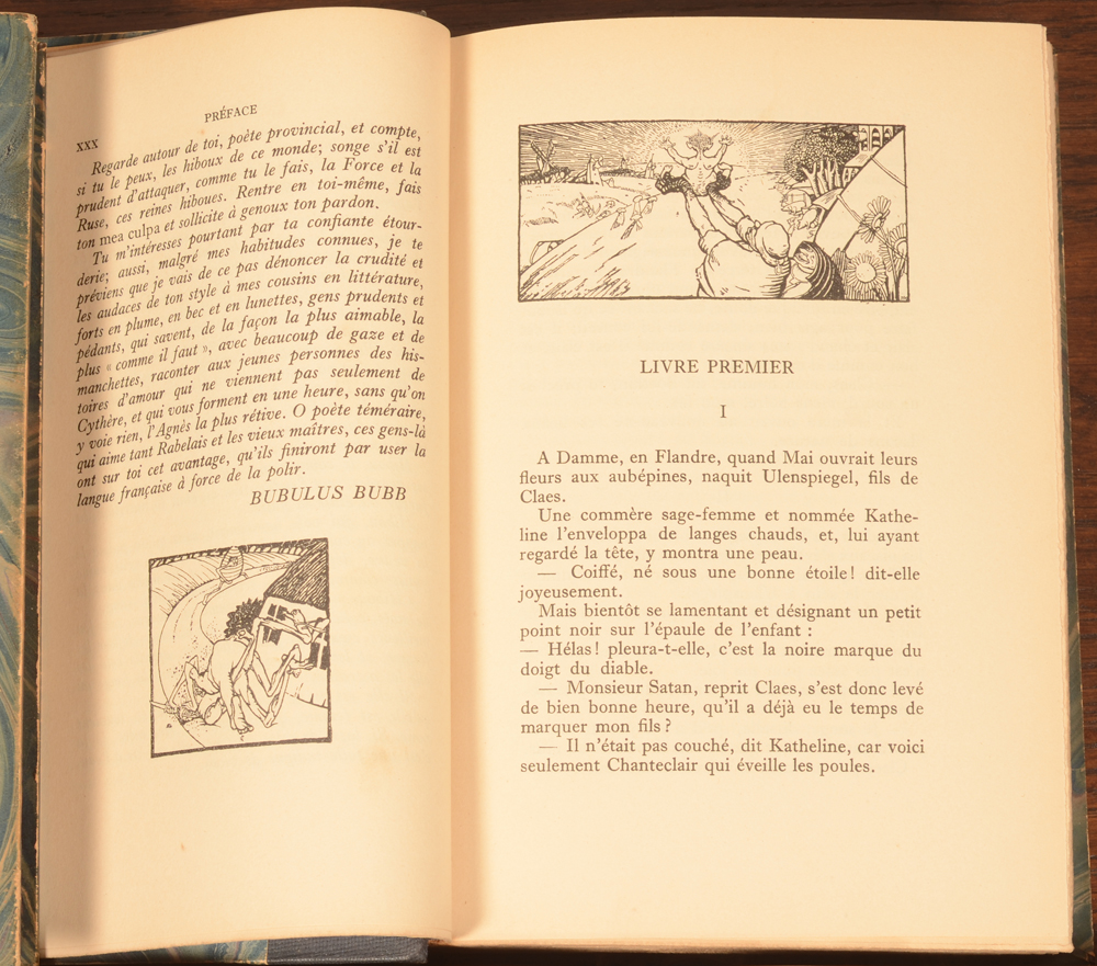 Charles De Coster Ulenspiegel illustrated by Jules De Bruycker — Sample of the layout with illustrations