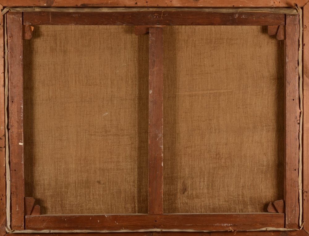 Gustave De Keukelaere — Back of the canvas, in good condition