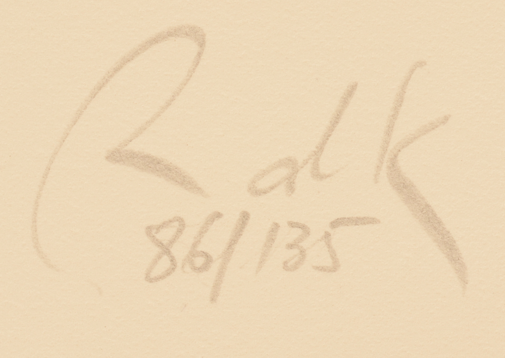 Raoul De Keyser — Signature and justification in pencil bottom right